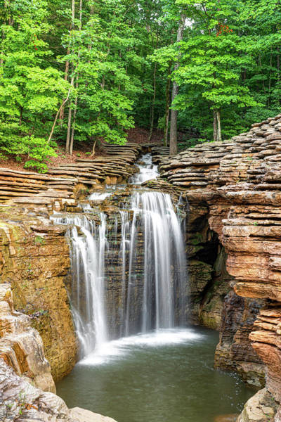 Wall Art - Photograph - Lost Canyon Waterfall - Missouri Ozark Mountains by Gregory Ballos