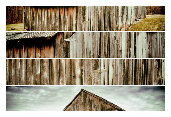 Photograph - Lost Creek Barn Tetraptych by Marianne Campolongo