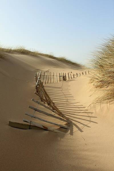 Protection Photograph - Lost Fence, Balmedie Beach by Scott Walker