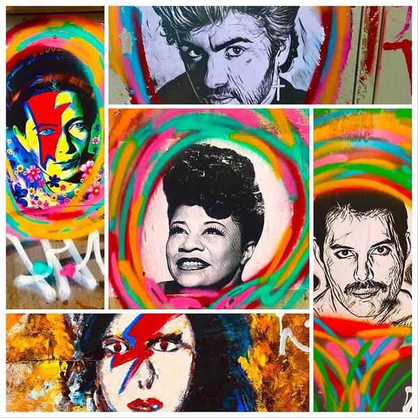 Wall Art - Photograph - Lost Iconic Celebrities by Funkpix Photo Hunter