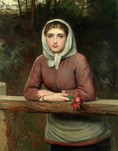 Thoughts Painting - Lost In Thought by Charles Sillem Lidderdale