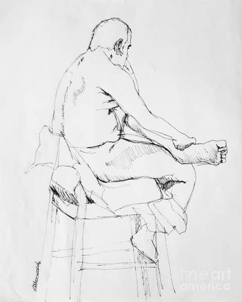 Drawing - Lost In Thought by Lorraine Germaine