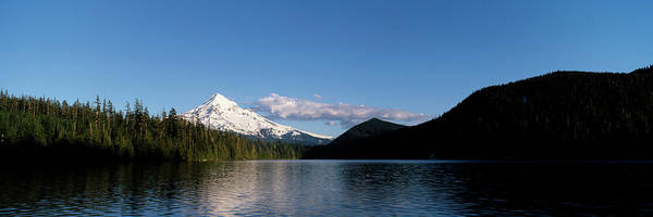 Wall Art - Photograph - Lost Lake With Mount Hood Volcano by Panoramic Images