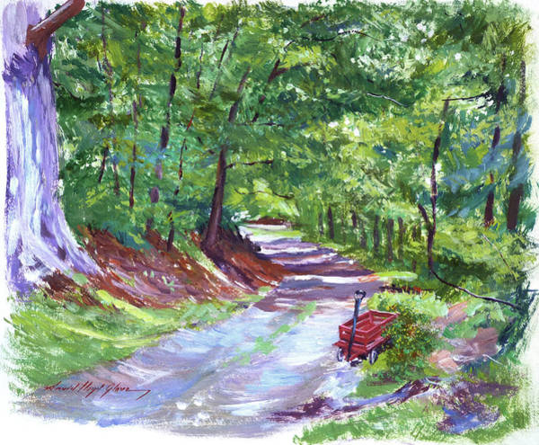 Painting - Lost Red Wagon by David Lloyd Glover