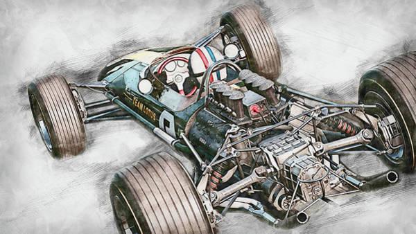 Painting - Lotus 49 - 60 by Andrea Mazzocchetti