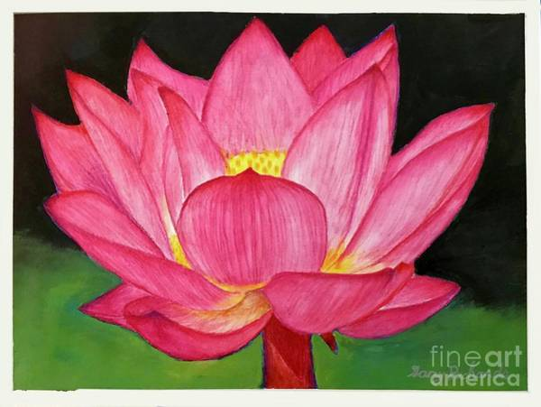 Wall Art - Painting - Lotus Flower by Gary F Richards