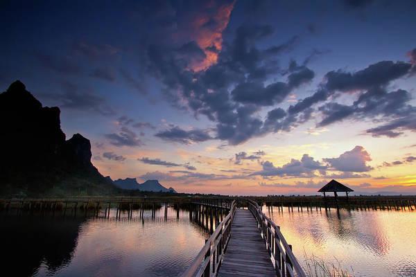 Palapa Wall Art - Photograph - Lotus Lake by Monthon Wa