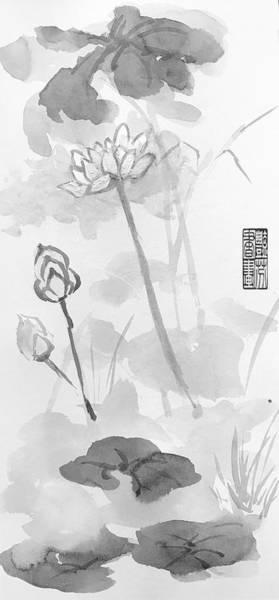 Wall Art - Painting - Lotus by Lavender Liu