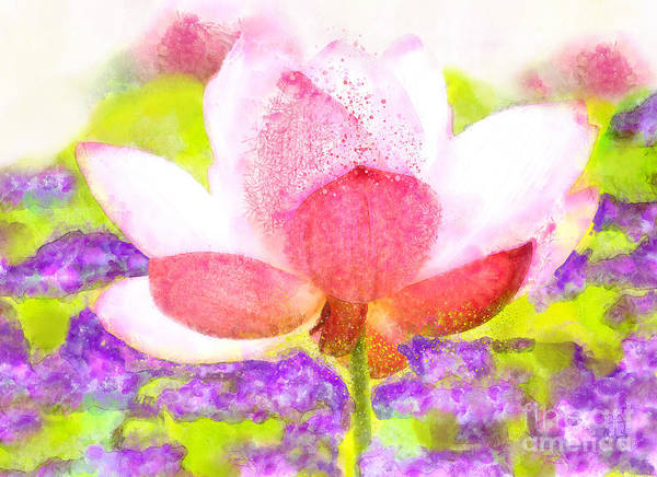 Wall Art - Painting - Lotus Propagating Karma Watercolor Floral Art by Tina Lavoie