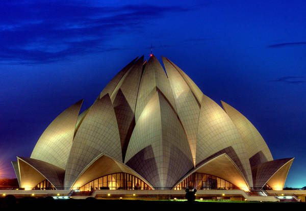 Wall Art - Photograph - Lotus Temple by Nature Explorer