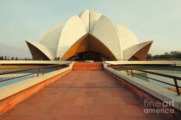 Wall Art - Photograph - Lotus Temple, New Delhi, India by Nadezda Murmakova