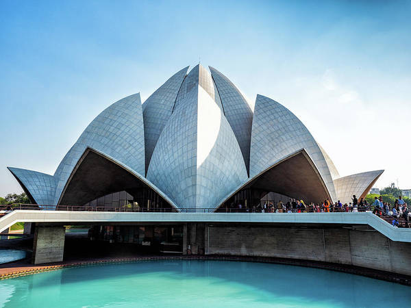 Photograph - Lotus Temple by Robin Zygelman