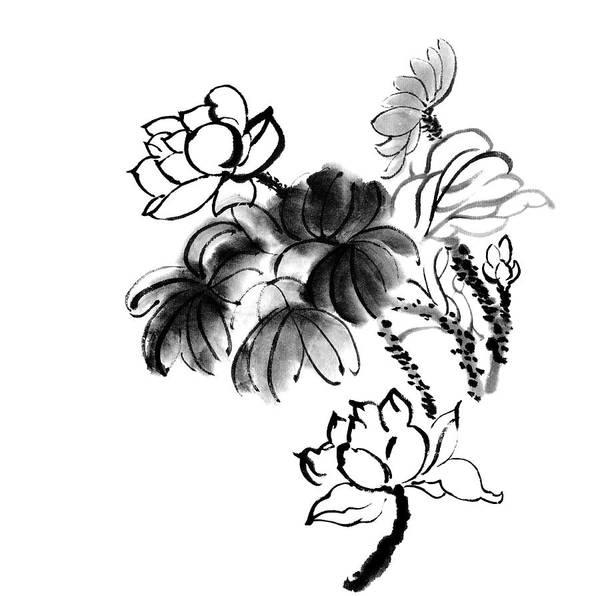 Calligraphy Digital Art - Lotus by Vii-photo