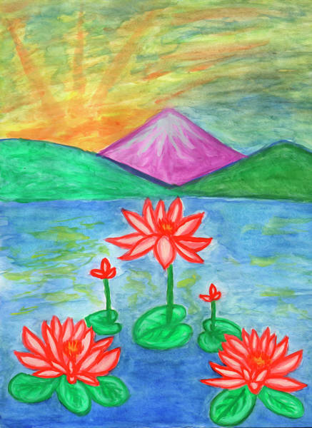 Painting - Lotuses Blooming by Irina Dobrotsvet