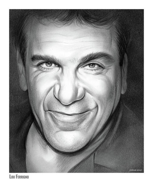 Wall Art - Drawing - Lou Ferrigno by Greg Joens
