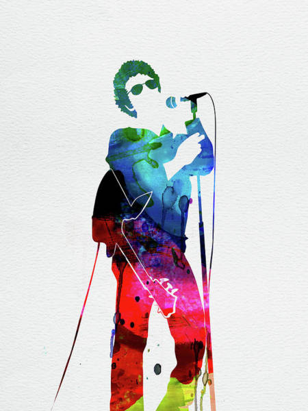 Wall Art - Digital Art - Lou Reed Watercolor by Naxart Studio