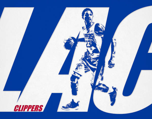 Wall Art - Mixed Media - Lou Williams Los Angeles Clippers City Art 1 by Joe Hamilton