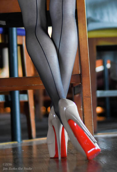 Photograph - Louboutin by Jim Lesher