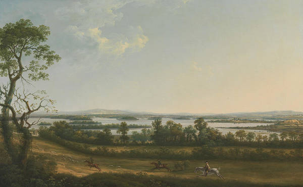 Painting - Lough Erne From Knock Ninney, With Bellisle In The Distance, County Fermanagh, Ireland by Thomas Roberts