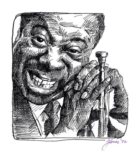 Painting - Louis Armstrong by David Lloyd Glover