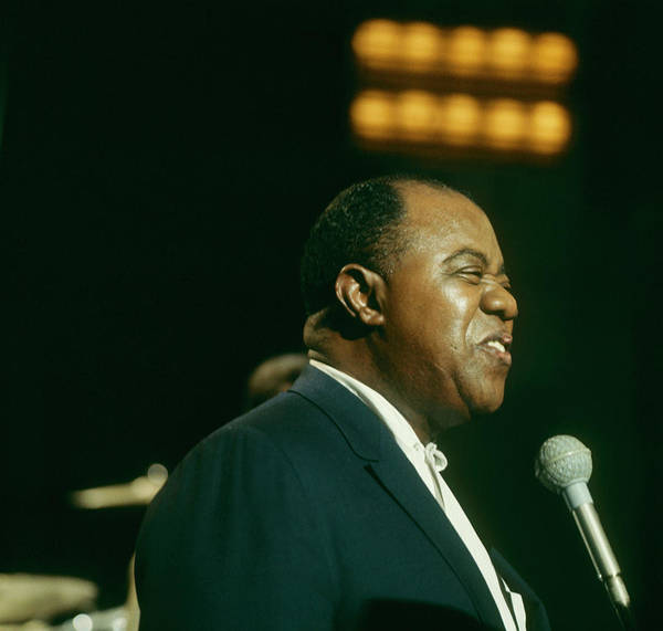 Photograph - Louis Armstrong Performs On Tv Show by David Redfern