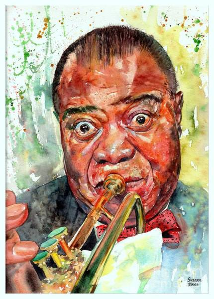 Wall Art - Painting - Louis Armstrong Portrait Painting by Suzann Sines