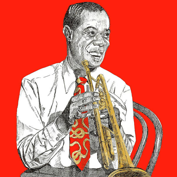 Trumpet Mixed Media - Louis Armstrong by Renee Lawrence