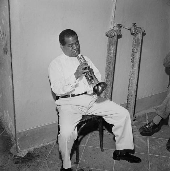 Photograph - Louis Armstrong by Slim Aarons