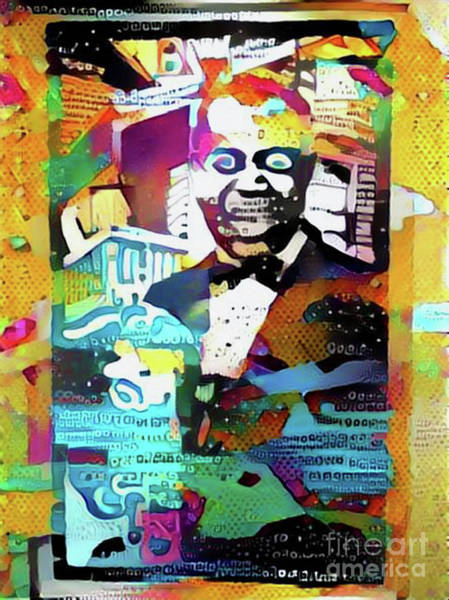 Trumpet Mixed Media - Louis Armstrong What A Colourful World by Nina Silver