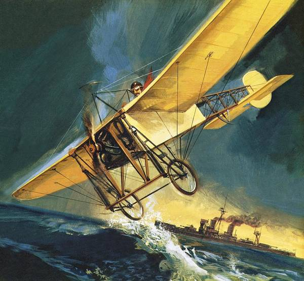 Daring Painting - Louis Bleriot, Aviation Pioneer by English School
