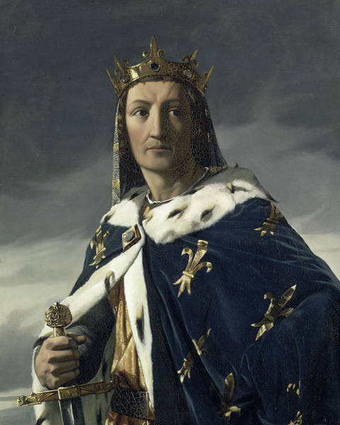 Fleur De Lys Painting - Louis Viii, King Of France by Henri Lehmann