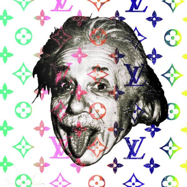 Wall Art - Mixed Media - Louis Vs Einstein  by Shane Bowden
