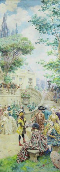 Wall Art - Painting - Louis Xv And Madame Du Barry by Maurice Leloir