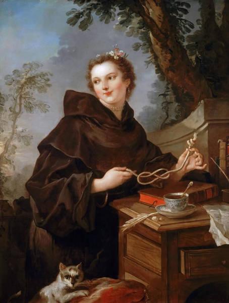 Painting - Louise-anne De Bourbon, Mlle De Charolais by Charles-Joseph Natoire