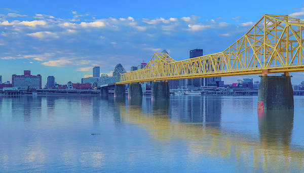 Wall Art - Photograph - Louisville Skyline And Bridge Reflection by Dan Sproul