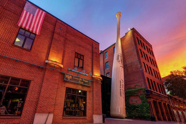 Photograph - Louisville Slugger At Sunset by Gregory Ballos