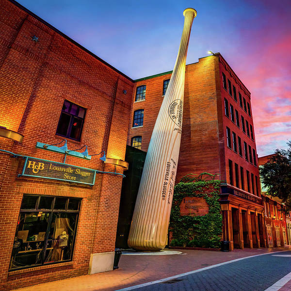 Photograph - Louisville Slugger Baseball Bat - Downtown Louisville Kentucky by Gregory Ballos
