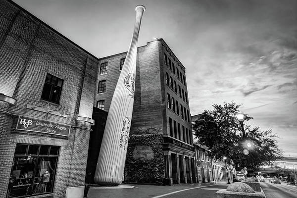 Photograph - Louisville Slugger Baseball Bat - Kentucky Monochrome by Gregory Ballos
