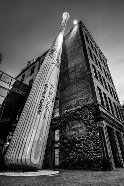 Photograph - Louisville Slugger Museum And Factory - Kentucky Black And White by Gregory Ballos