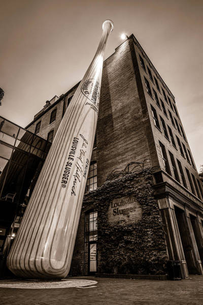 Photograph - Louisville Slugger Museum And Factory - Kentucky Sepia by Gregory Ballos