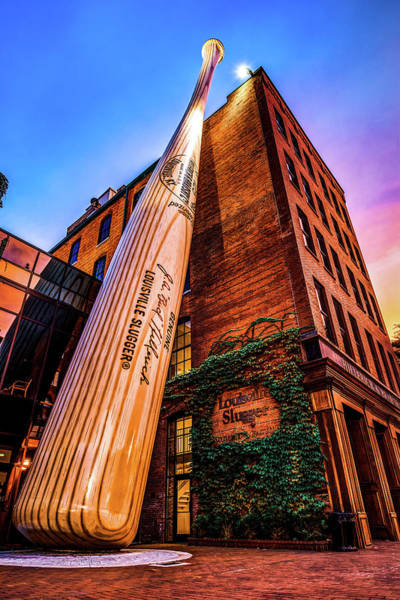Photograph - Louisville Slugger Museum In Vivid Color And Kentucky Architecture by Gregory Ballos