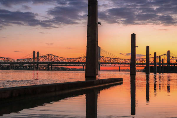 Photograph - Louisville Sunrise On The Ohio River by Dan Sproul