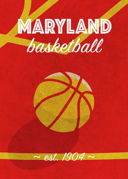 Wall Art - Mixed Media - Loumaryland University Retro College Basketball Team Poster by Design Turnpike
