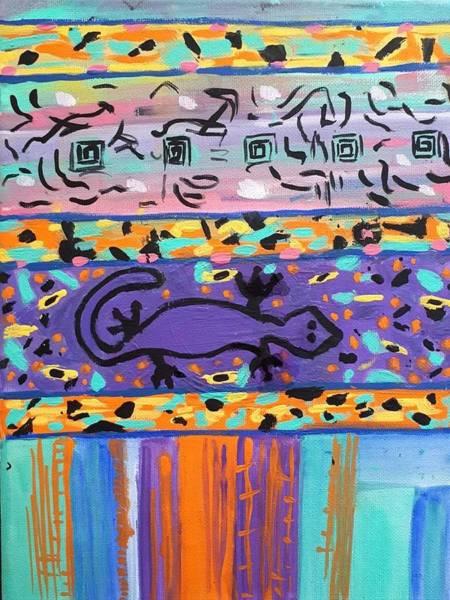 Painting - Lounge Lizard by Nikki Dalton