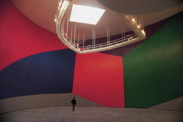 Bilbao Photograph - Lounge Of Guggenheim, Bilbao Paintings by Luis Davilla