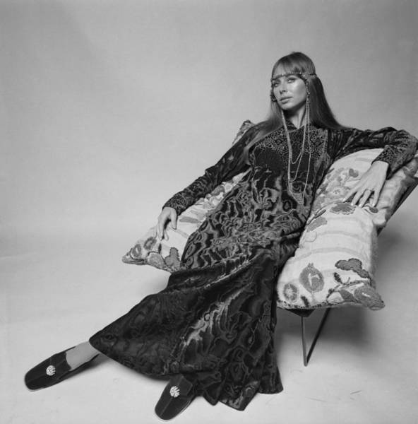 Armchair Photograph - Lounging Dress by Mckeown