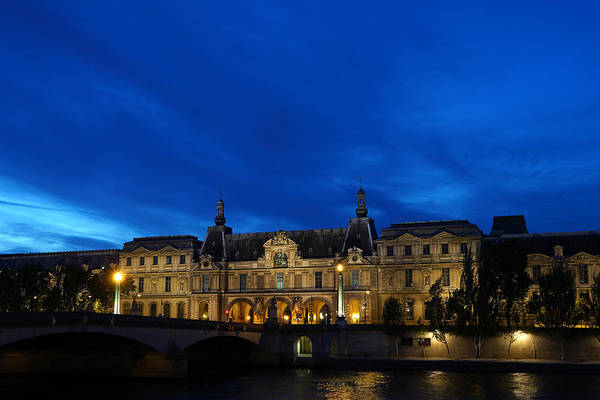 Photograph - Louvre At Night by Andrew Fare