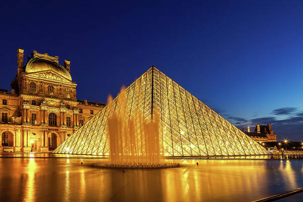 Wall Art - Photograph - Louvre At Twilight by Andrew Soundarajan