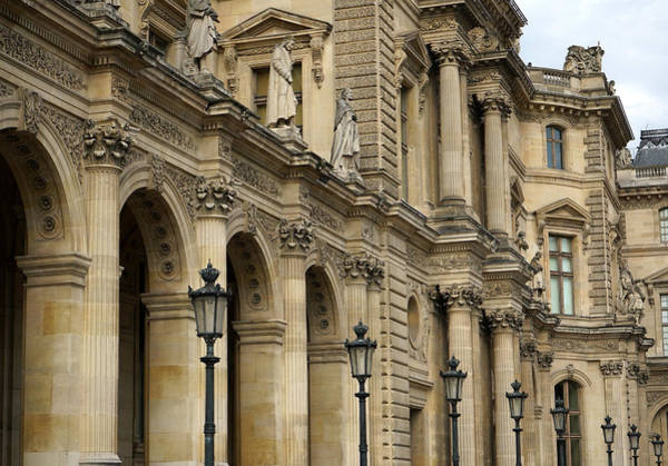 Photograph - Louvre Facade by Andrew Fare