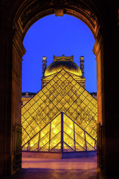 Wall Art - Photograph - Louvre Framed by Andrew Soundarajan